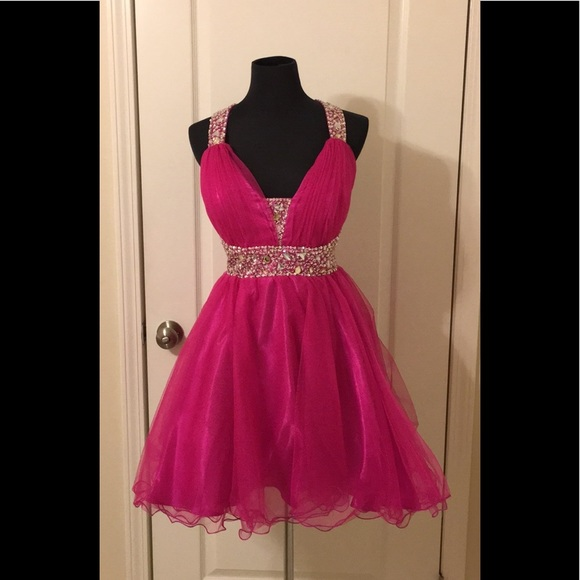 a64c891ec9e28f Dresses | Blowout Short Hot Pink Party Dress | Poshmark